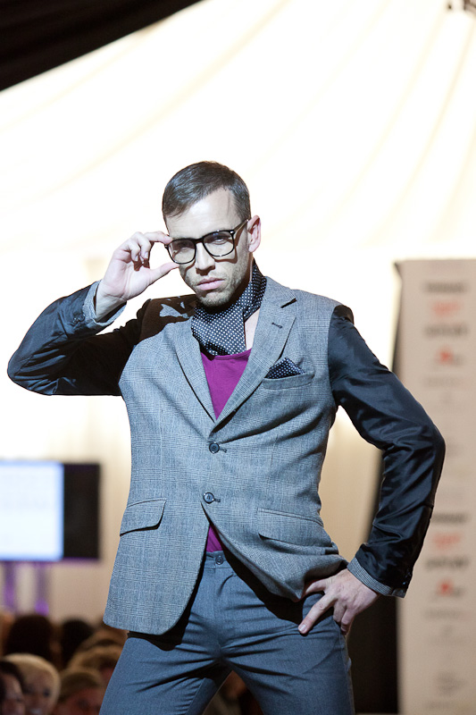 ShootDHS founder Dave Hill-Souch took to the runway himself.