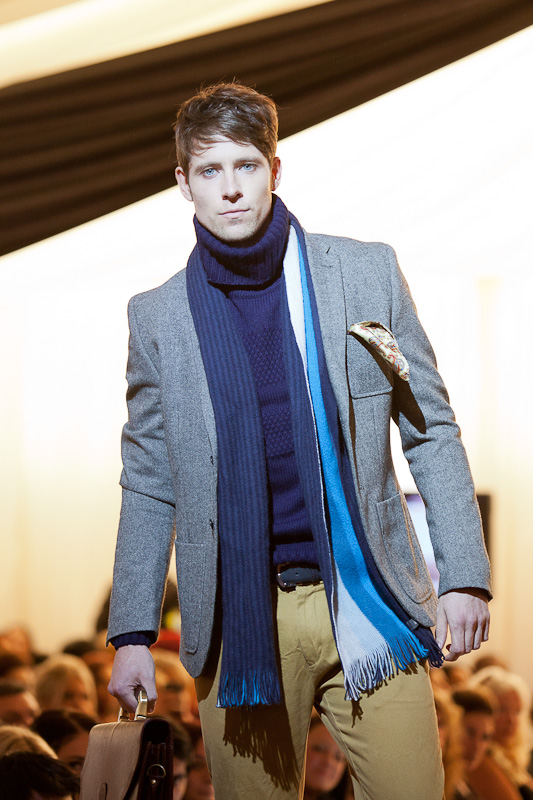 Men's accessories on the catwalk.