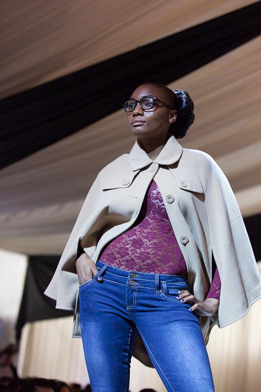 ShootDHS model Raphaella does a preppy look at Essex Fashion Week.