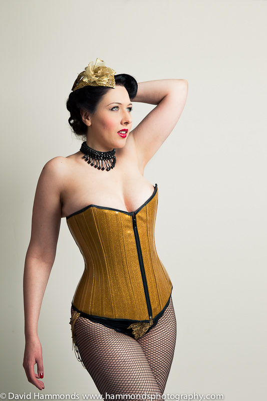 This beautiful steel-boned corset was created by Heresy Clothing