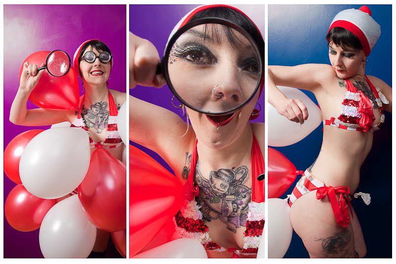 Triptych Where's Wally burlesque