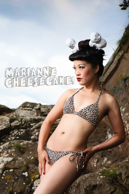 Marianne Cheesecake pinup shots at Portishead