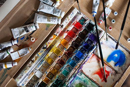 Jennie's watercolours.